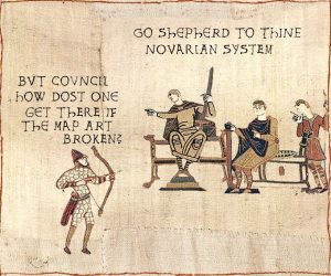 Early attempts to faithfully render the Space Opera unto the Bayeux tapestry were Minimally Affecting.